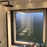 Skyddsglas badrumsfönster