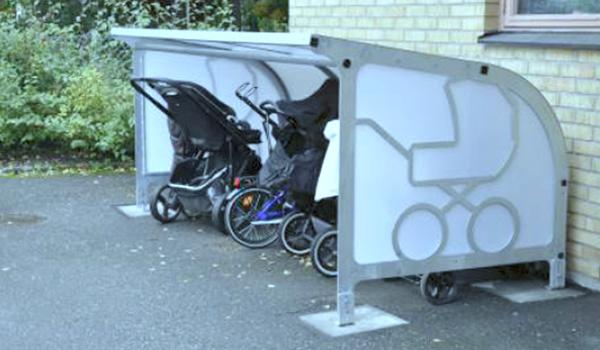 Barnvagnsgarage säljs hos Nilssons Glas & Aluminium i Bankeryd, Habo, Mullsjö, Jönköping